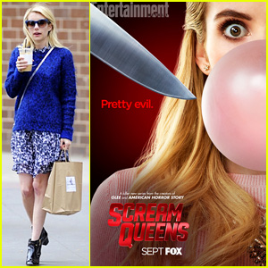 Emma Roberts Blows Major Bubble in New 'Scream Queens' Poster
