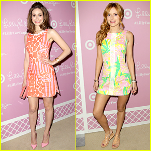 Emmy Rossum & Bella Thorne Look Chic & Colorful at Lilly Pulitzer For Target Launch