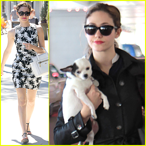 Emmy Rossum Gives Us Some Sugar at LAX Airport