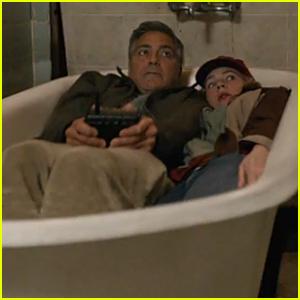 Britt Robertson & George Clooney Share Bathtub in 'Tomorrowland' Trailer - Watch Now!