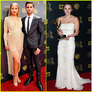 Veronica Dunne & Max Ehrich Couple Up for Daytime Emmys 2015, Hunter King Wins Again!