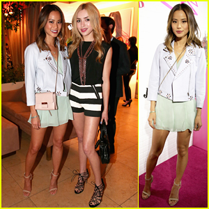 Jamie Chung & Peyton List Buddy Up at JustFab Ready-To-Wear Launch Party!