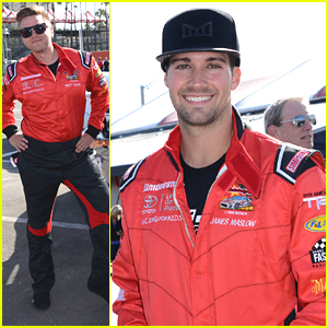Brett Davern & Nathan Kress Get The Competition Started During Press Day Before Toyota Pro/Celeb Race