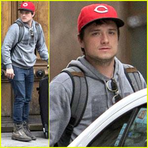 Josh Hutcherson Leaves Girlfriend Claudia Traisac's Home in Madrid