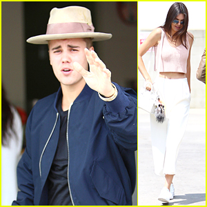 Justin Bieber Catches Up With Kendall Jenner & Hailey Baldwin at Duff's CakeMix