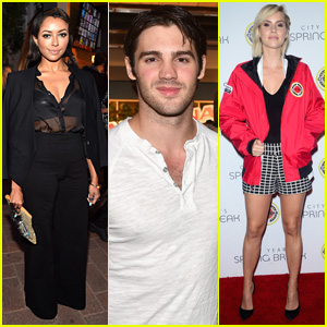 'Vampire Diaries' Reunion! Kat Graham, Steven R. McQueen, & Claire Holt Hit Up Same Event