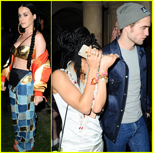 Katy Perry Runs Into Robert Pattinson & FKA twigs While Partying at Coachella