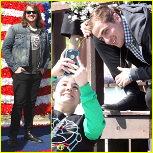 Kendall Schmidt & Caleb Johnson Hit Up Cherry Blossom Parade in D.C.