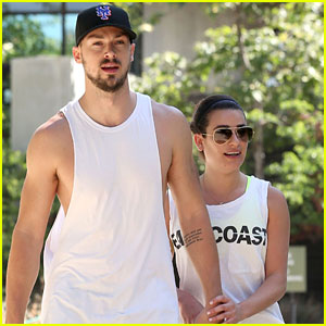 Lea Michele Kick Starts The Weekend With A Hike & Matthew Paetz