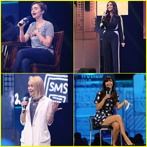 Lily Collins & Becca Tobin Inspire Thousands at We Day Seattle 2015!