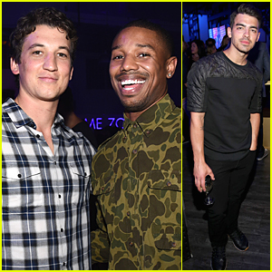 Michael B. Jordan & Miles Teller Are 'Fantastic' Studs at Samsung Launch