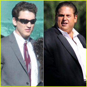 Miles Teller & Jonah Hill Get to Work on 'Arm and the Dudes'