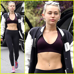 Miley Cyrus Rocks a Sports Bra for Her Daily Hike