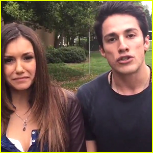 Nina Dobrev & Michael Trevino Wrap Last 'Vampire Diaries' Scene Together - See Their Cute Goodbye Video
