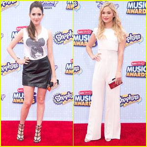 Laura Marano Wears Cute Anna Wintour Mickey Mouse Tee To RDMAs 2015