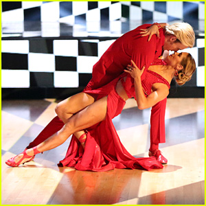 Riker Lynch & Allison Holker Paint the Floor Red With Their 'DWTS' Tango