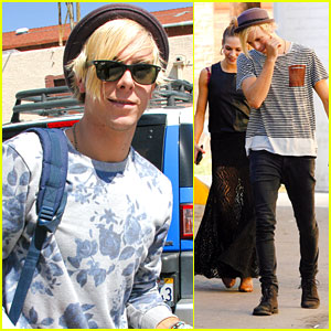 Riker Lynch & Allison Holker Stock Up On Foot Care Bandages After GDLA Appearance