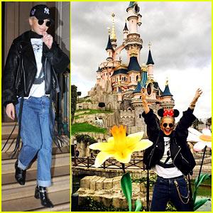 Rita Ora Takes a Trip to Disneyland Paris