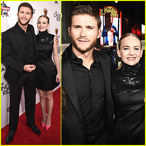 Scott Eastwood & Britt Robertson Are Matching Black Co-Stars at 'Longest Ride' Premiere
