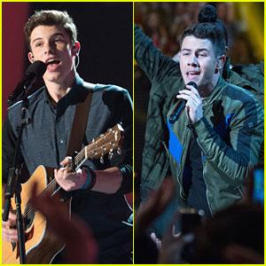 Shawn Mendes & Nick Jonas Perform At RDMAs 2015 - See The Pics!
