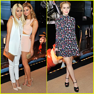 Stefanie Scott & Hayley Kiyoko Hear The 'W Stories' Together in Los Angeles