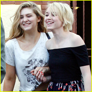 Willow Shields Gets Surprised by Sister Autumn In Los Angeles