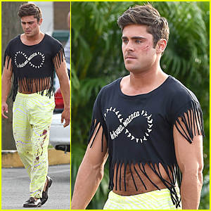 Zac Efron Bares Midriff In Black Crop Top at Police Station!