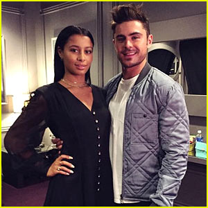 Zac Efron Shares Cute Backstage Moment with Girlfriend Sami Miro at MTV Movie Awards 2015!