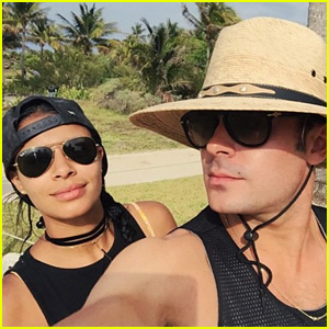 Zac Efron Soaks Up Some Sun in Mexico With Girlfriend Sami Miro