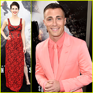 Colton Haynes Is Dressed Like a Pink Flamingo at the 'San Andreas' Premiere!