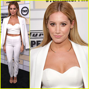 Ashley Tisdale Wows in White At Turner Upfronts In NYC