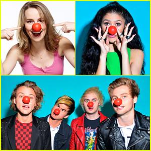 Bridgit Mendler, Zendaya, & More Celebrate Red Nose Day!