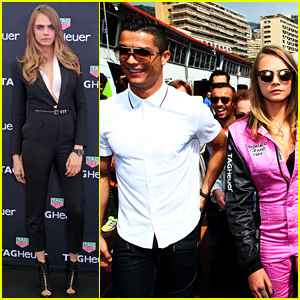 Cara Delevingne Gets Into Her Racing Jumpsuit at F1 Grand Prix