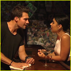 James Maslow & Chrissie Fit Fall In Love At The Bar In 'Flashlight' Cover Video - Watch Now!