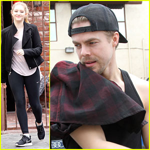 Derek Hough Celebrates 30th Birthday At The Dance Studio