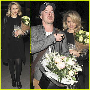Dianna Agron Gets Showered With Flowers at 'McQueen' Opening Night