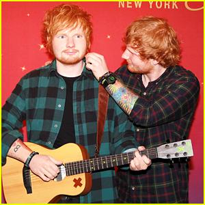 Ed Sheeran Meets Ed Sheeran - See His Wax Figure Reveal at Madame Tussaud's!