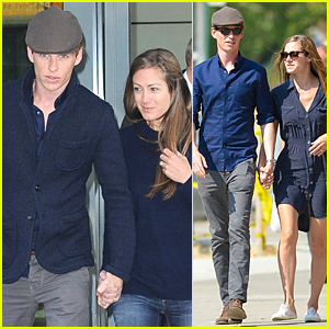 Eddie Redmayne & Hannah Bagshawe Catch London Flight After Met Gala