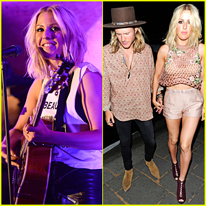 Ellie Goulding Gets Support From Dougie Poynter at Annabel's Gig