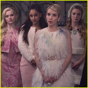 Emma Roberts & Ariana Grande Show Tons of Pink Attitude in 'Scream Queens' Official Trailer - Watch Now!