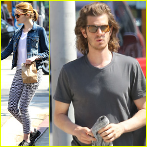 Andrew Garfield & Emma Stone Grab Lunch & Hit the Gym Together