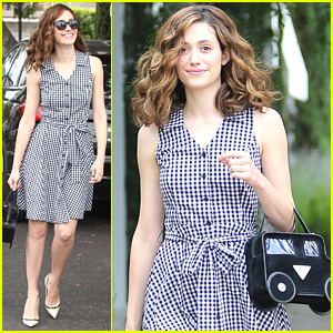 Emmy Rossum Jokes About Her Car Purse: 'I Decided To Take It For A Test Drive'