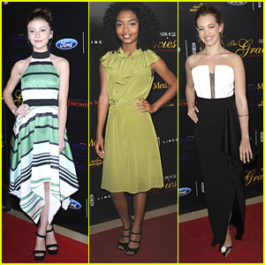 G Hannelius & Yara Shahidi Hit Up Gracie Awards With Sadie Calvano