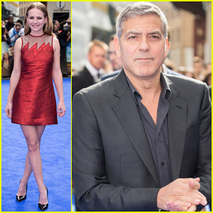 Britt Robertson Premieres 'Tomorrowland' in London With Co-Star George Clooney
