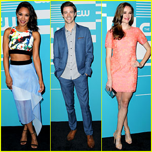 Candice Patton & Grant Gustin Head To CW Upfronts In A 'Flash'