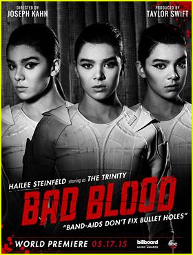 Hailee Steinfeld Has Us Seeing Triple in Taylor Swift's 'Bad Blood' Poster