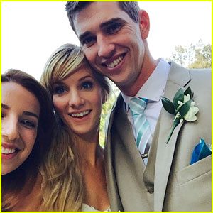 Heather Morris Marries Taylor Hubbell Surrounded By Glee Co-Stars