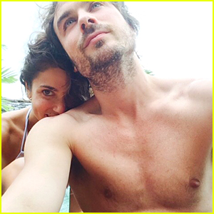 Ian Somerhalder Goes Shirtless in Sexy Honeymoon Pic With Wife Nikki Reed