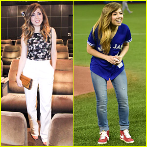 Jennette McCurdy Throws First Pitch at Toronto Blue Jays Game! (Video)