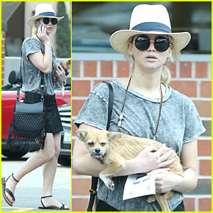Jennifer Lawrence's Dog Doesn't Look Thrilled to Be at Rite-Aid